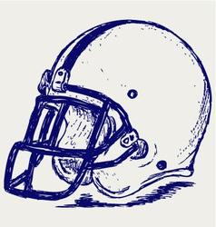 Helmet football vector image vector image