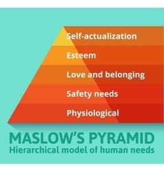 Maslow pyramid of needs vector image