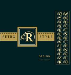 monogram design elements graceful template vector image vector image