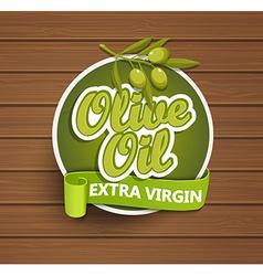 Olive oil extra virgin label vector image