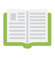 open book flat icon education and school vector image