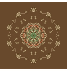 ornamental round lace with damask and vector image vector image