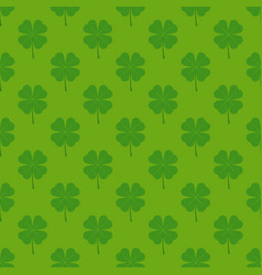 seamless pattern with four leaf clover vector image