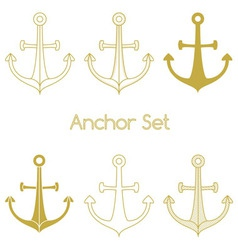 Set of anchor logo vector