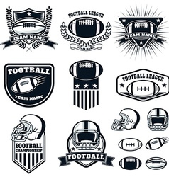 Set of the american football labels emblems and vector image vector image