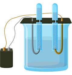 Water electrolysis process vector