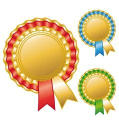 Blank awards ribbons vector image vector image