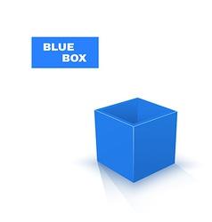 Blue Box isolated on white background vector image