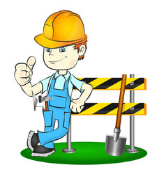 builder with tool vector image