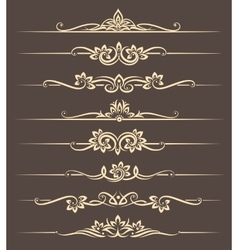 Calligraphic design elements page dividers with vector image vector image