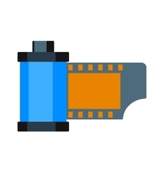 Camera vintage film roll cartridge vector image