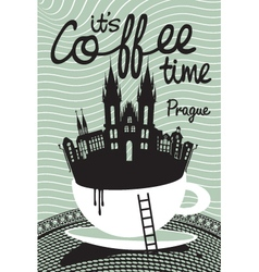 coffee on Prague vector image vector image