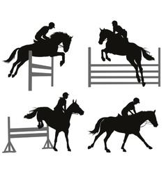 Equestrian sports set vector image vector image