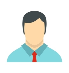 Male avatar with shirt and tie icon flat style vector image vector image
