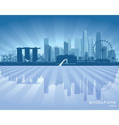 Singapore city skyline silhouette vector image vector image
