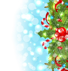 Christmas glowing background holiday decoration vector image vector image