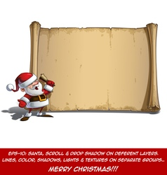 Happy Santa Scroll It Is Christmas Time vector image
