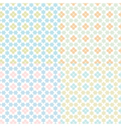 set of seamless abstract vector image vector image
