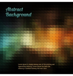 Abstract mosaic vintage and retro background vector