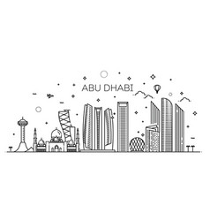 Abu dhabi city line art vector