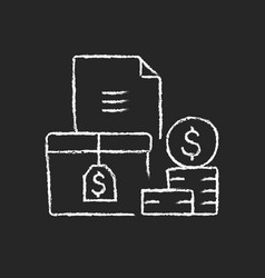 Accounts receivable chalk white icon on dark vector