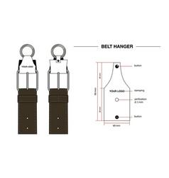 Belt hanger drawing vector