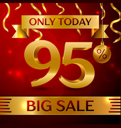 big sale ninety five percent for discount vector image