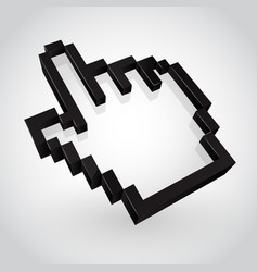 black hand arrow cursor vector image