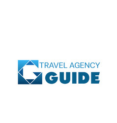 blue logo for travel agency vector image