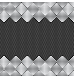 brushed metal mosaics on texture background vector image