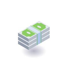 bundle of money icon symbol vector image