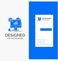 business logo for analytics chart seo web setting vector image