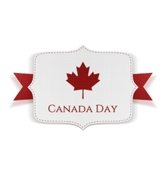 Canada Day patriotic Banner with Ribbon vector image
