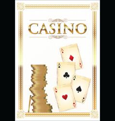 casino background vector image