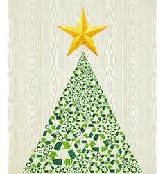 Christmas recycle pine tree vector image