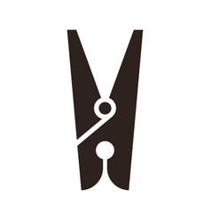 clothes peg icon vector image