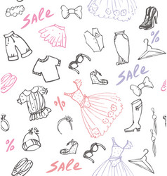 Clothing - trousers skirts hats shoes dresses vector