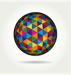 colored spherical 3d geometric vector image