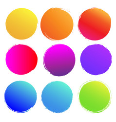 colorful blobs big set isolated white background vector image