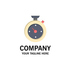 compass timer time hotel business logo template vector image