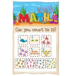 Count number math to ten vector