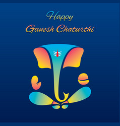 Creative poster of celebrate ganesh chaturthi vector