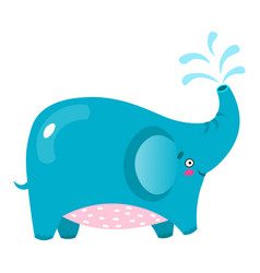 cute elephant cartoon baby vector image