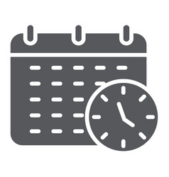 deadline glyph icon organizer and plan calendar vector image