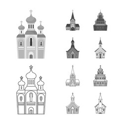 design cult and temple symbol vector image
