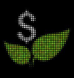 Eco startup halftone icon vector