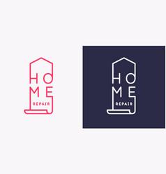 emblem home repair modern vector image