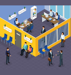 employment recruitment isometric composition vector image