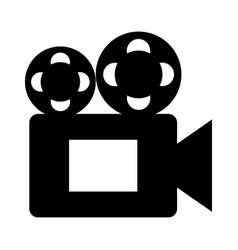 Film video camera icon vector