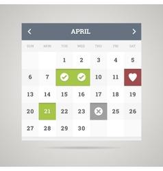 Flat calendar vector